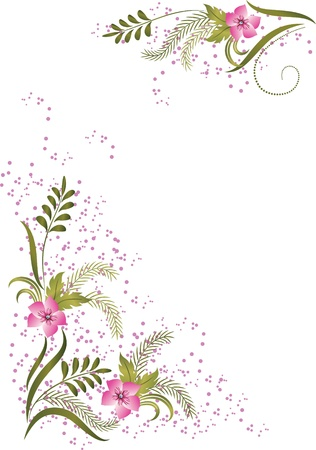 vegetation: Card  with meadow flower