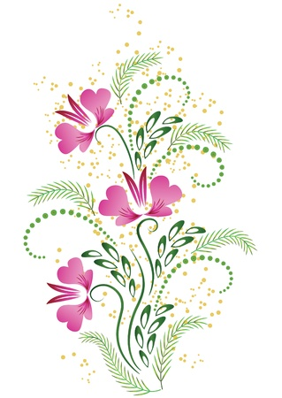 tendril: Card with meadow flower Illustration