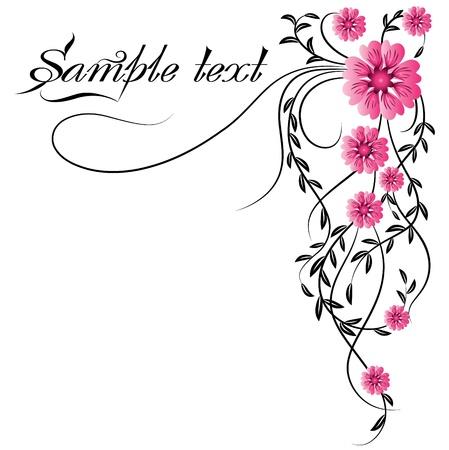 esquineros de flores: Ornamento de esquina Vectores