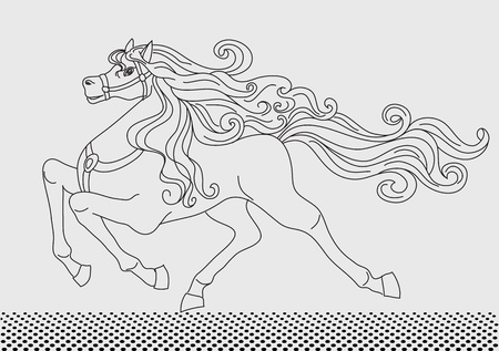 Background with horse  Stock Vector - 10446902