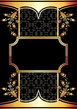 Background with golden ornament for vaus design artwork Stock Vector - 10446901