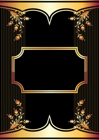 ornate: Background with golden ornament for various design artwork