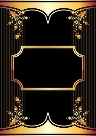 utsirad: Bakgrund med gyllene ornament för olika design konstverk