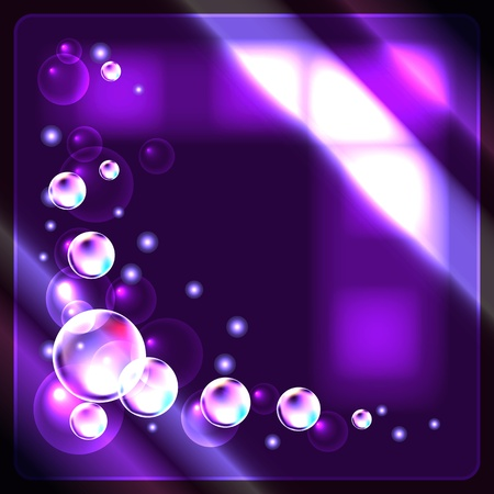 Glowing  background with bubbles Stock Vector - 10446914