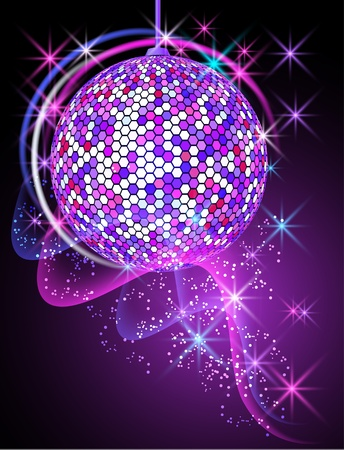 glitter ball: Celebratory background with disco ball