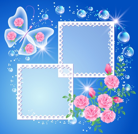 bubble frame magic background with frame and a place for text or photo illustration