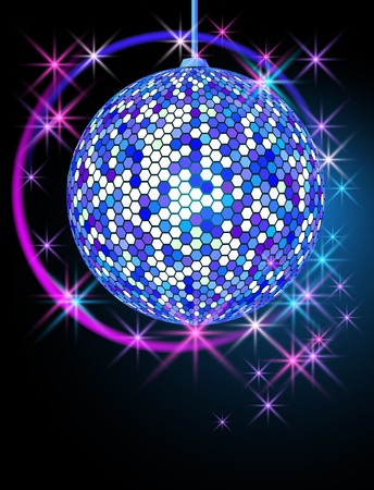 rotate: Celebratory background with disco ball
