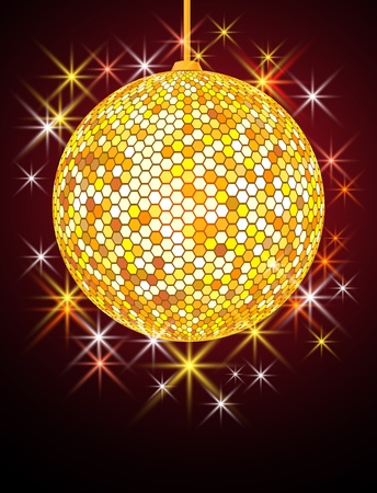 reflejo en espejo: Fondo festiva con bola de discoteca