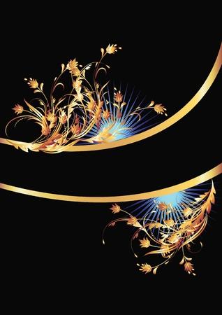 Sfondo con ornamenti d'oro per arte e di design vari Vettoriali