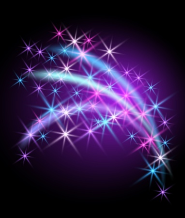 Glowing background with stars Stock Vector - 10490641