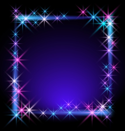 shimmering: Glowing background with stars