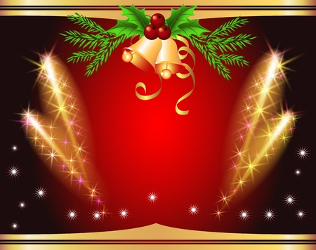 Christmas background with salute and bells