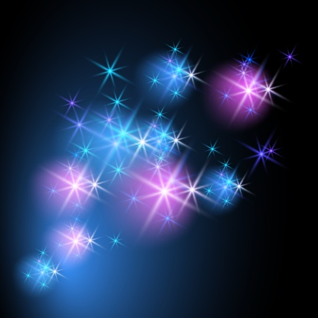 star shapes: Glowing background with stars