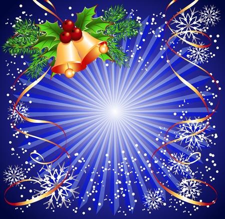 fur tree: Sfondo Natale con campane