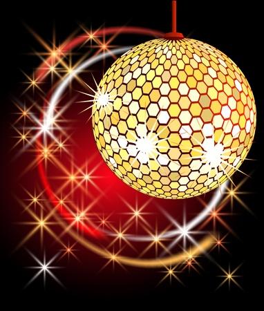 Celebratory background with diskoball Stock Vector - 10490624