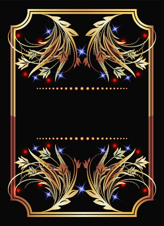 Background with golden ornament Stock Vector - 10490602