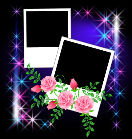 snaps: Page layout photo album with roses