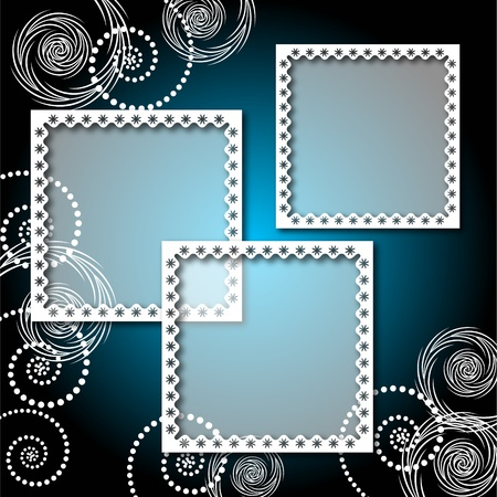 Background with lacy, elegant photo frame Stock Illustratie