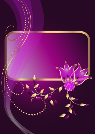 fita: Background with ornament and elegant frame Ilustra��o
