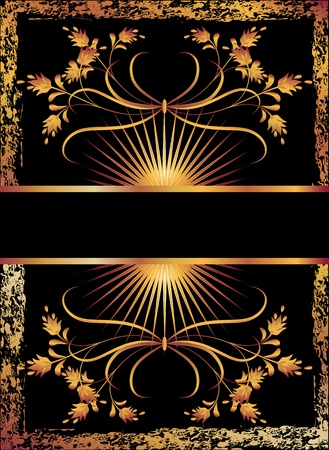 Background with luxurious golden ornament.  Vector