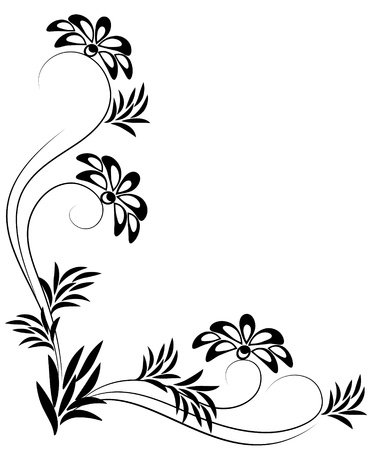 flower line: Decorative ornament for various design artwork