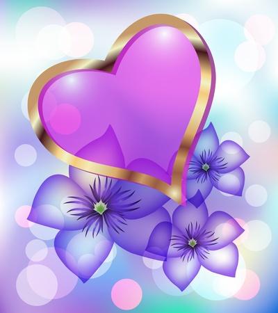heart  love: Card with decorative heart
