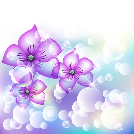 Floral shining vector background Stock Vector - 10804841