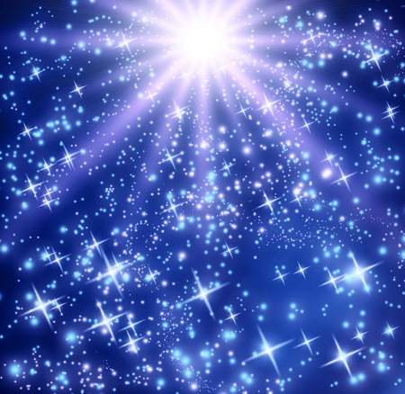 Background with glowing stars Stock Photo - 10942663