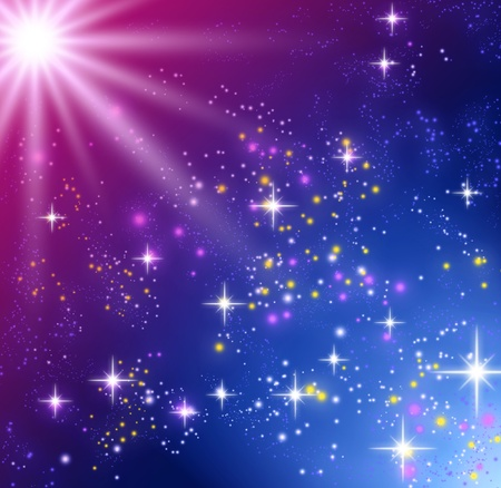 Background with glowing stars Stock Photo - 10942671