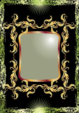 Black background with luxurious ornament Vector