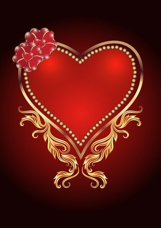romanticism: Card with decorative heart