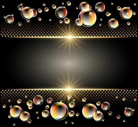 Glowing background with stars and bubbles Stock Vector - 11087515