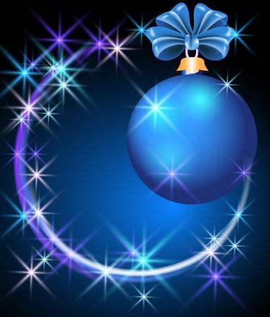 Christmas ball  with  sparkling  stars Stock Vector - 11149057