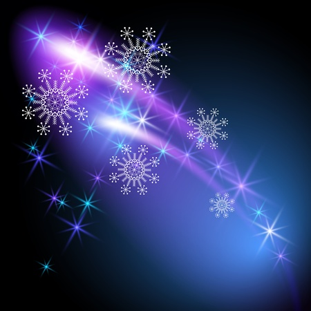 stylization: Christmas background with snowflakes and salute