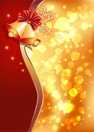 Christmas background with bells Vector