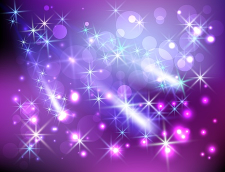 Glowing background with stars Vector