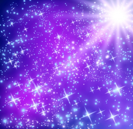Background with glowing stars 免版税图像