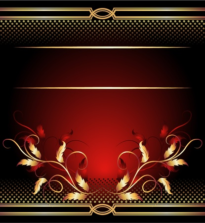 Background with golden ornament for various design artwork Stock Vector - 11622608
