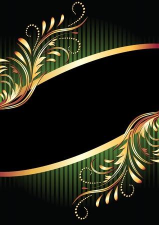 Achtergrond met gouden ornament voor verschillende ontwerpen kunstwerk Vector Illustratie