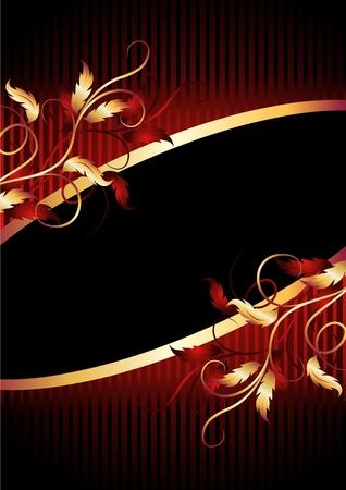 bilderrahmen gold: Hintergrund mit goldenen Ornament f�r verschiedene Design-Kunstwerk