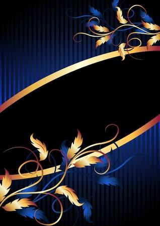 Background with golden ornament for vaus design artwork Stock Vector - 11640734