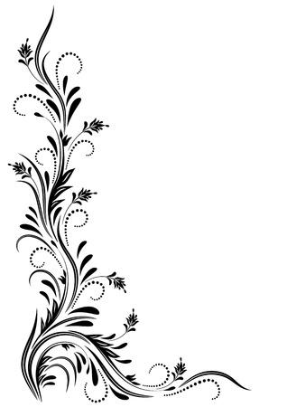Ornamento decorativo angular de diseño artístico de los diversos