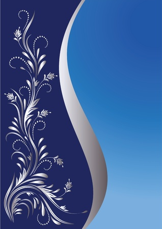 Background with silver ornament for various design artwork Vector
