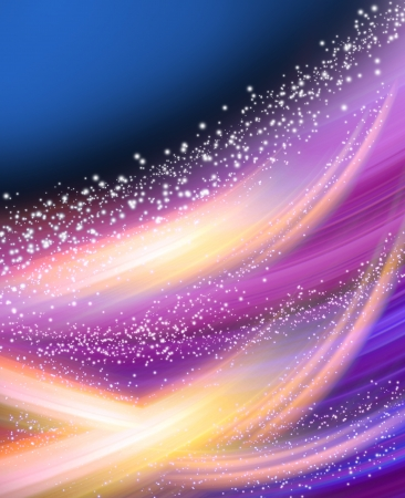 Abstract glowing background with stars Stock Photo