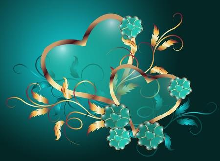 corazones azules: D�a de San Valent�n