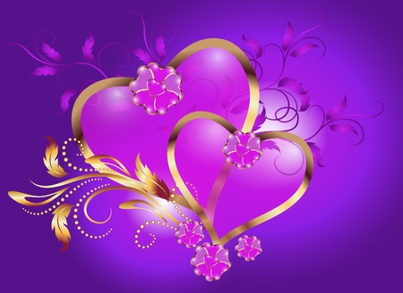 two hearts: Valentine Day