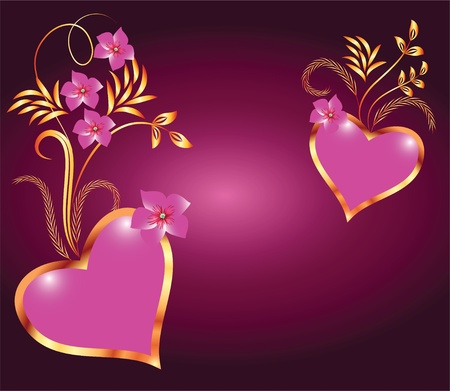 flaming heart: Valentine Day