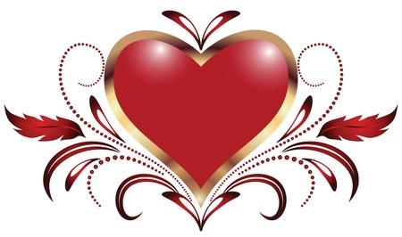 romanticism: Hearts design for Valentine