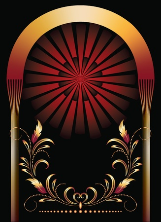 bilderrahmen gold: Hintergrund mit Ornament.