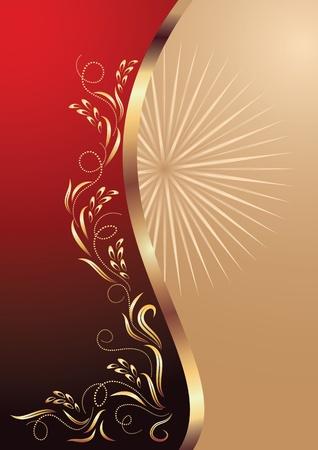 Background with ornament.  Illusztráció